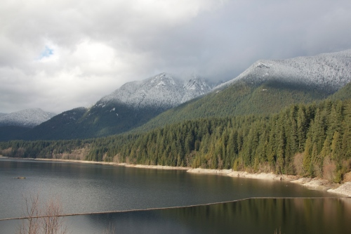 View from the Capilano Dam towards Crown Mountain