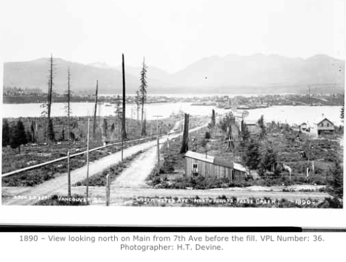 False Creek flats historic photo